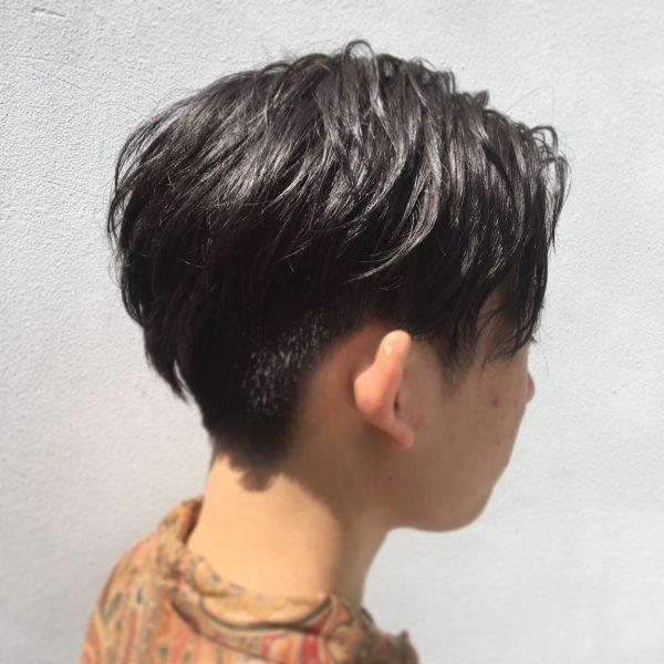 メンズ暗髪ショート1